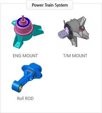 Power Train System : ENG MOUNT, T/M MOUNT, Roll ROD